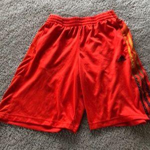 Adidas orange basketball shorts YL